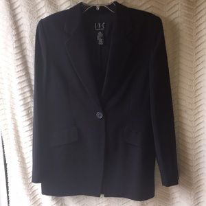 INC midnight navy blazer women's size 8